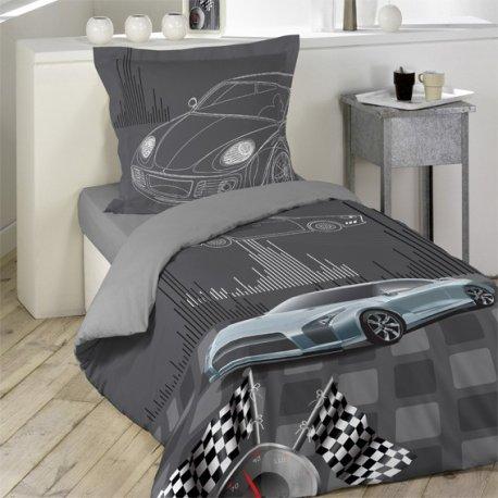 parure de lit turbo 140 x 200 cm 1 personne. Black Bedroom Furniture Sets. Home Design Ideas