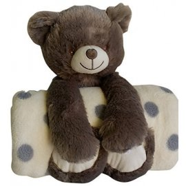 SET ENFANT PELUCHE OURSON + PLAID