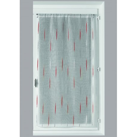 VITRAGE LUCILE 90 x 200 cm - ROUGE