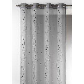 VOILAGE ESMA 280 x 240 cm gris ou blanc