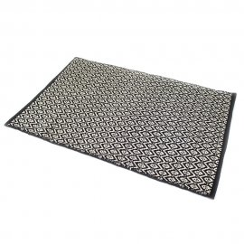 TAPIS INDIRA NOIR & NATUREL DESIGN N°4