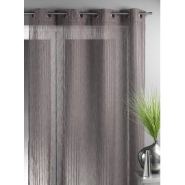 VOILAGE GRANDE LARGEUR RAYURES TAUPE 200 X 260