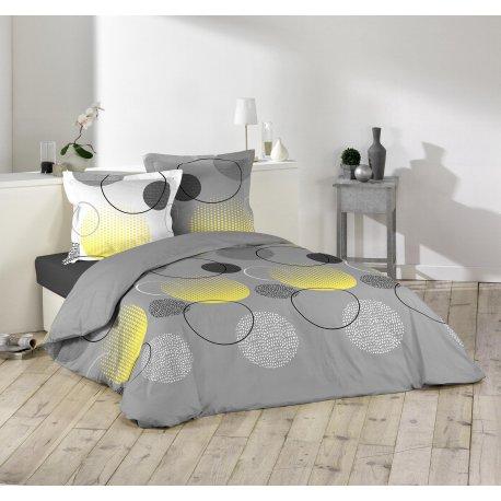 parure de lit hoopy 2 dimensions. Black Bedroom Furniture Sets. Home Design Ideas