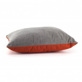COUSSIN ARSENE GRIS ORANGE 45 X 45 CM