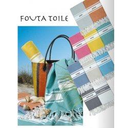 FOUTA TOILE 100 % COTON - 10 coloris