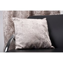 COUSSIN DUNDEE VELOURS CROCODILE - GIVRE