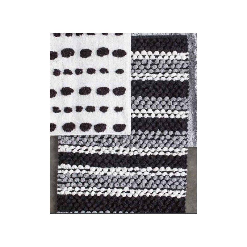 tapis de bain zebra noir 50 x 80 cm. Black Bedroom Furniture Sets. Home Design Ideas