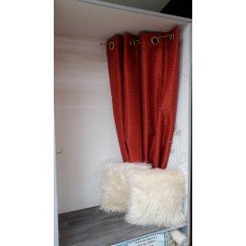 PAIRE DE RIDEAU LEA D'AUBRAY ORANGE 135 x 270 cm