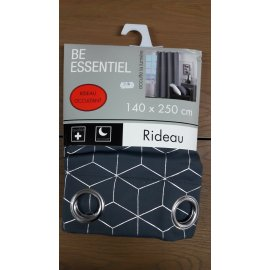 RIDEAU METALIA ANTHRACITE 140 X 250