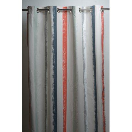 Rideau rayures verticales 4 couleurs 140 x 270 for Rideaux voilage couleur