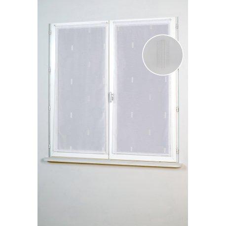Vitrage CLUB 80 x 210 cm blanc
