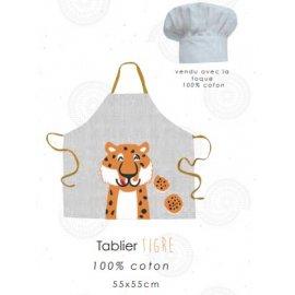 TABLIER TIGRE ENFANT + TOQUE