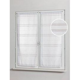 PAIRE DE VITRAGE DIANE 45 x 125 cm Blanc
