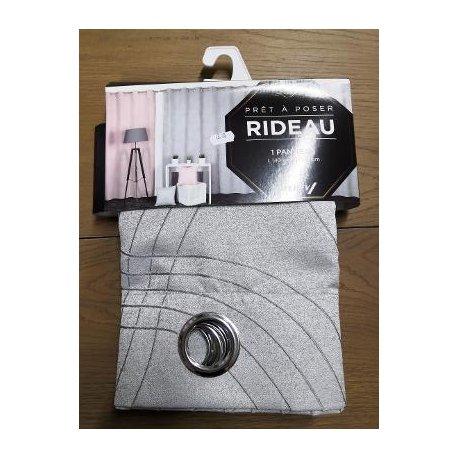 RIDEAU VICTOR 140 X 240 CM GRIS