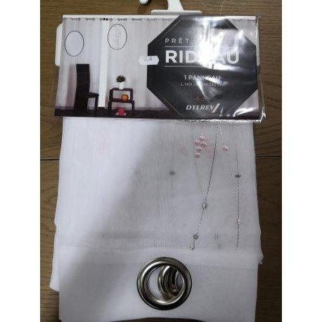 VOILAGE SACHA 140 X 240 CM -BLANC/ ROSE
