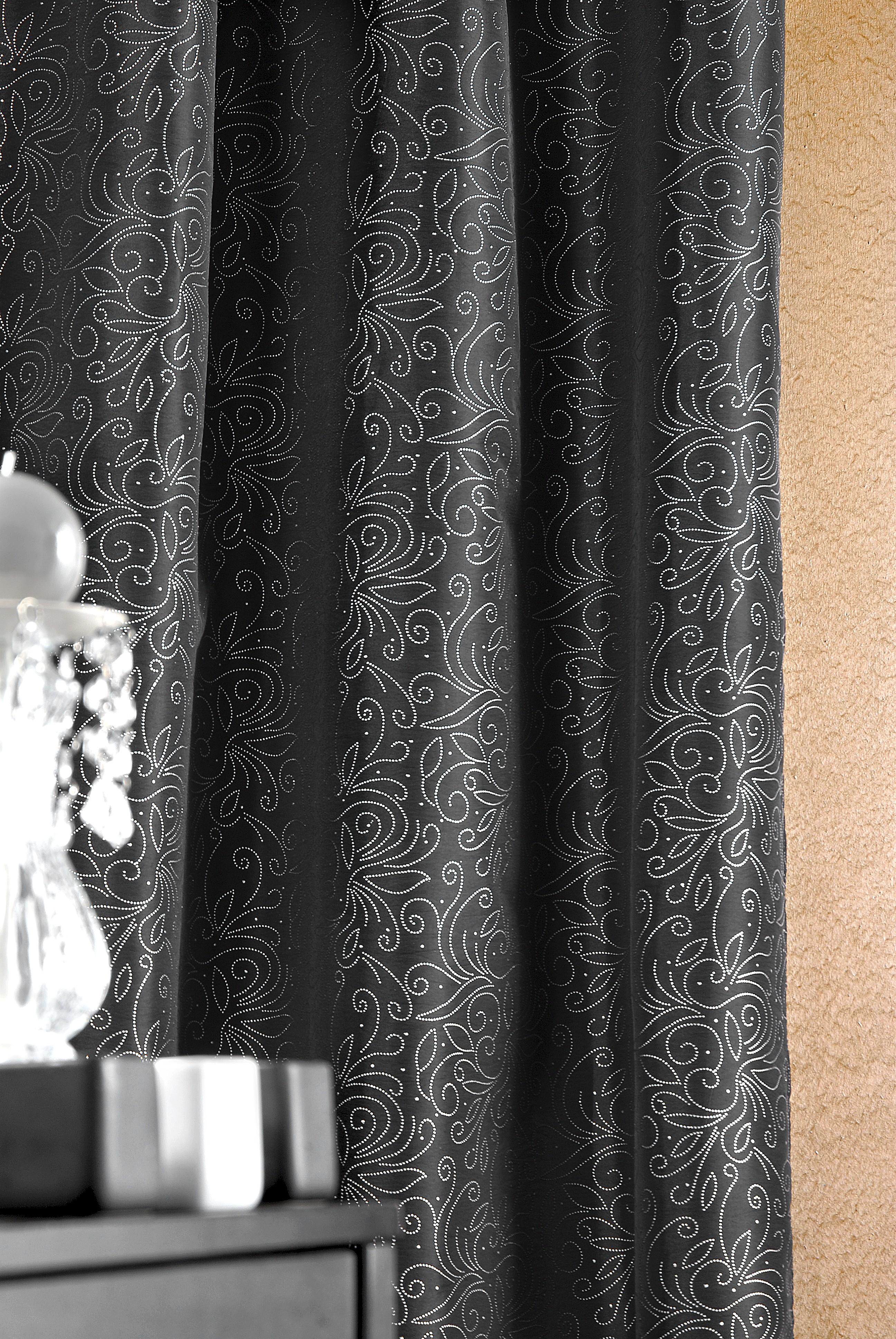 rideau noir et argent hoze home. Black Bedroom Furniture Sets. Home Design Ideas