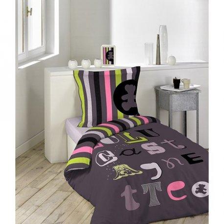 parure de lit lulu castagnette atelier 140 x 200 cm 1 personne. Black Bedroom Furniture Sets. Home Design Ideas