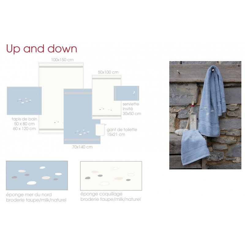 Tapis de bain up and down for Housse up and down